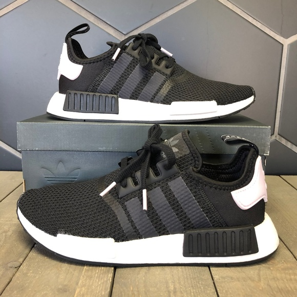 adidas Shoes | Womens Nmd R1 Black White Pink Running Shoe